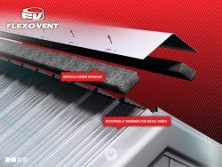 Flex-O-Vent installs under ridgecap